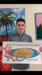 Samuel Cloutier has achieved 13 years of perfect attendance.