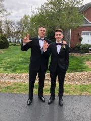 Samuel Cloutier (right) and Will Steiner will be roommates at U of L this fall.