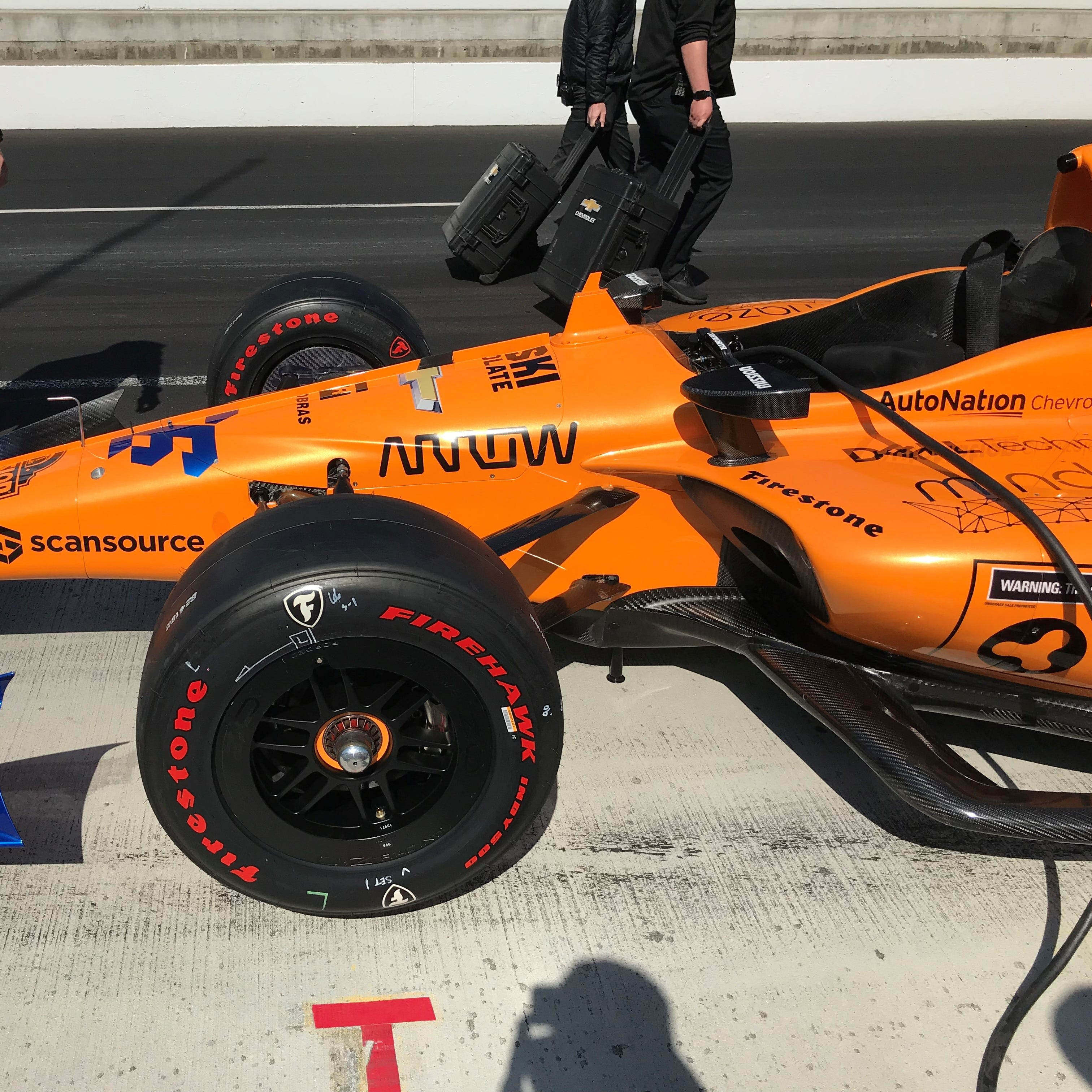 McLaren Indy's No. 66 Chevrolet  features Arrow Electronics as one of its sponsors.
