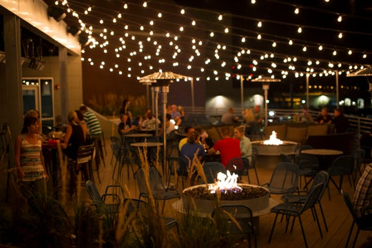 The roof top patio at 30 Hop at 900 E 2nd Ave, in Coraville.