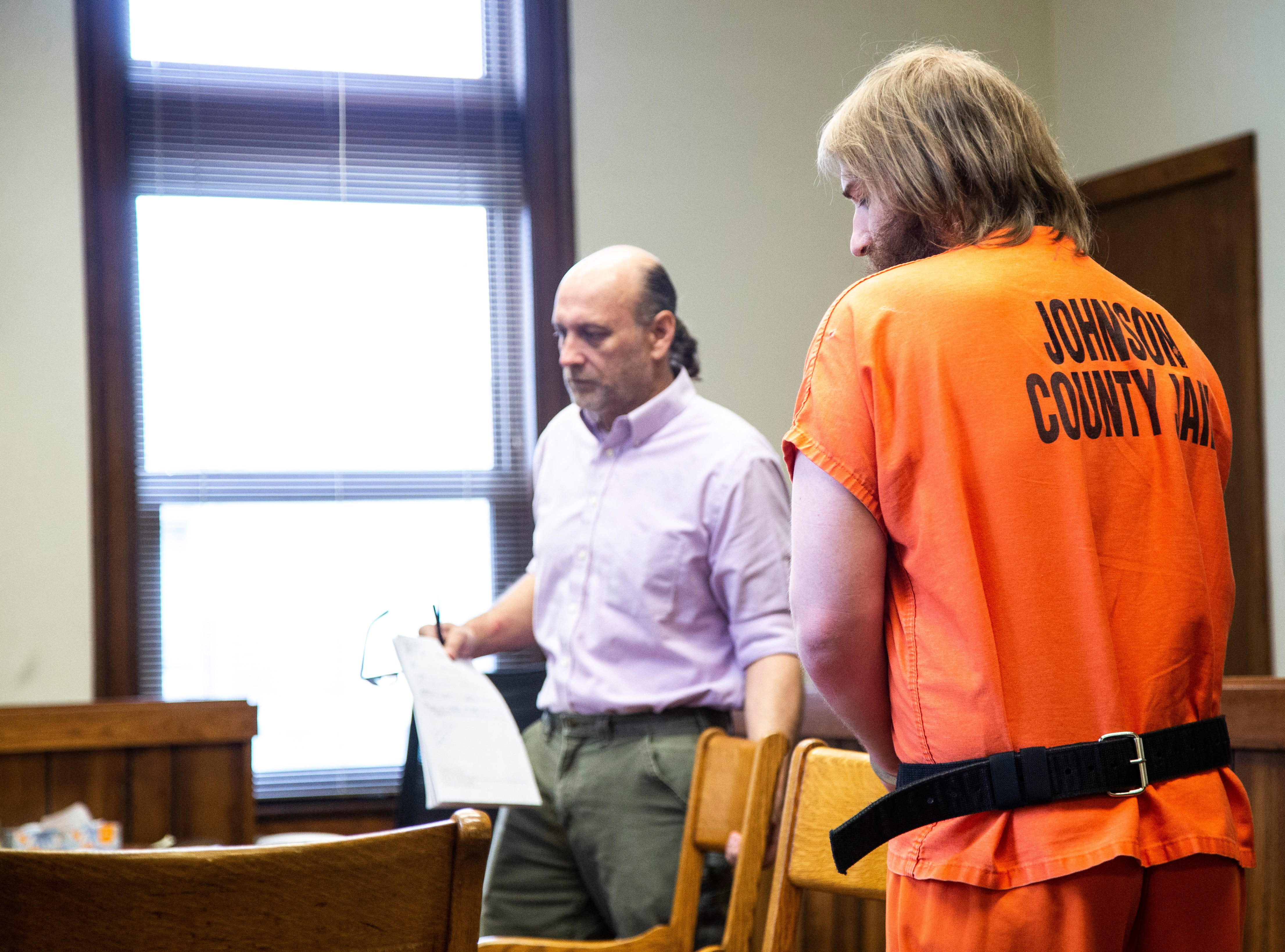 Flannery Kennedy-Meier arrives during his sentencing hearing for attempted murder, Tuesday, May 14, 2019, at the Johnson County Courthouse in Iowa City, Iowa.