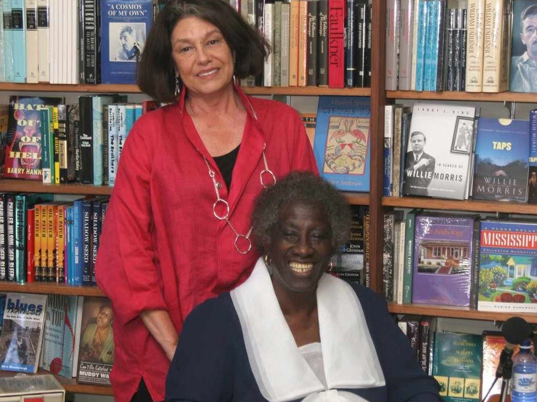 Co-author JoAnne Prichard Morris, standing, and Unita Blackwell pose for a photograph Tuesday June 13, 2006, at McCormick Book Inn, in Greenville, Miss.