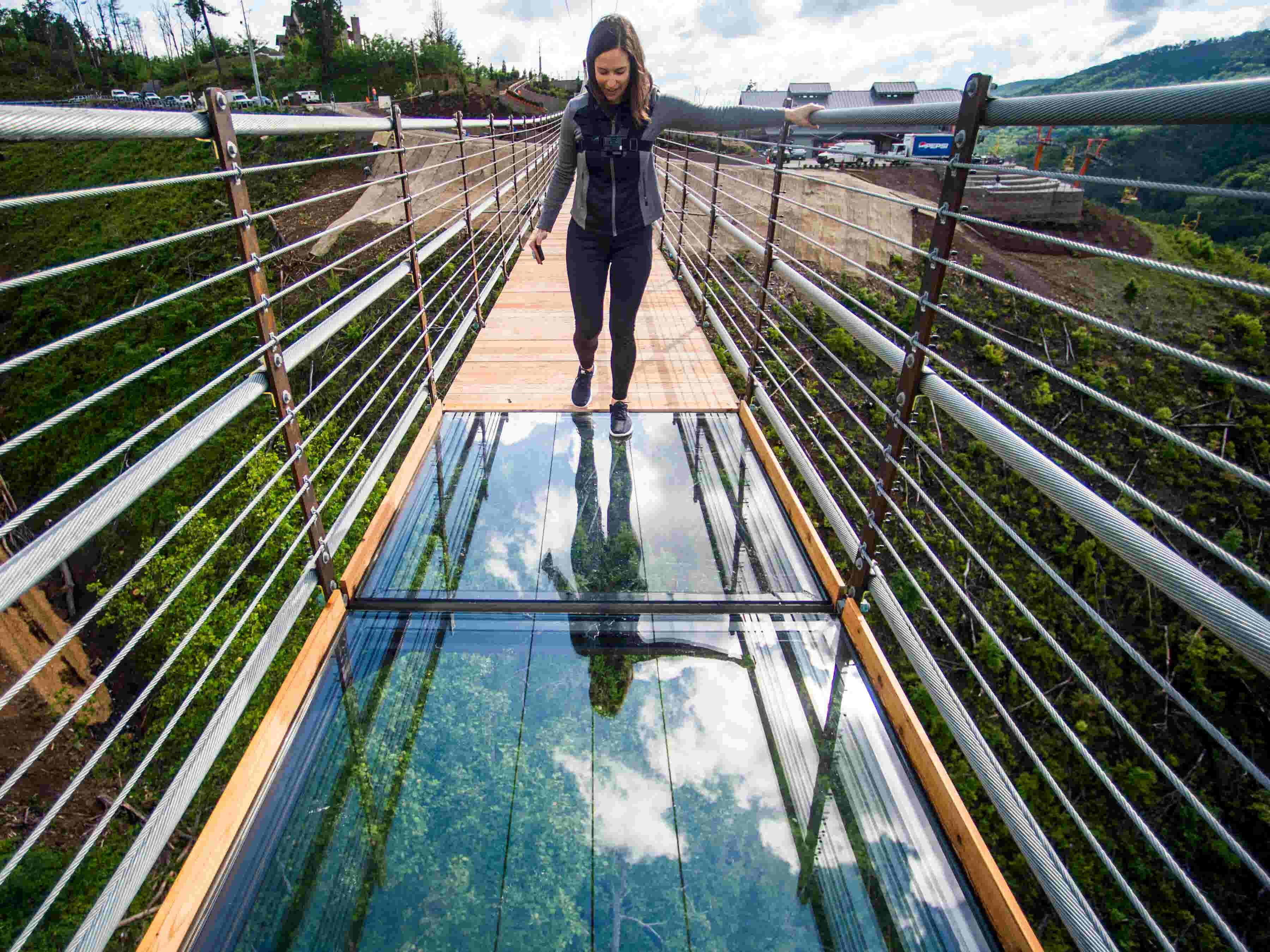 Walk With Reporter Brenna Mcdermott Across The Glass Floor Panels