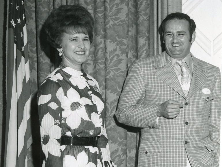Winzle Shockley and James B. Scott, May, 1971.