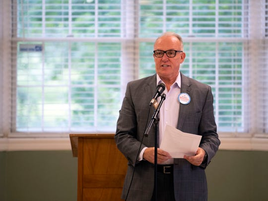 Knoxville mayoral candidate Eddie Mannis during the mayoral forum at Eastminster Presbyterian Church on Monday, May 13, 2019.
