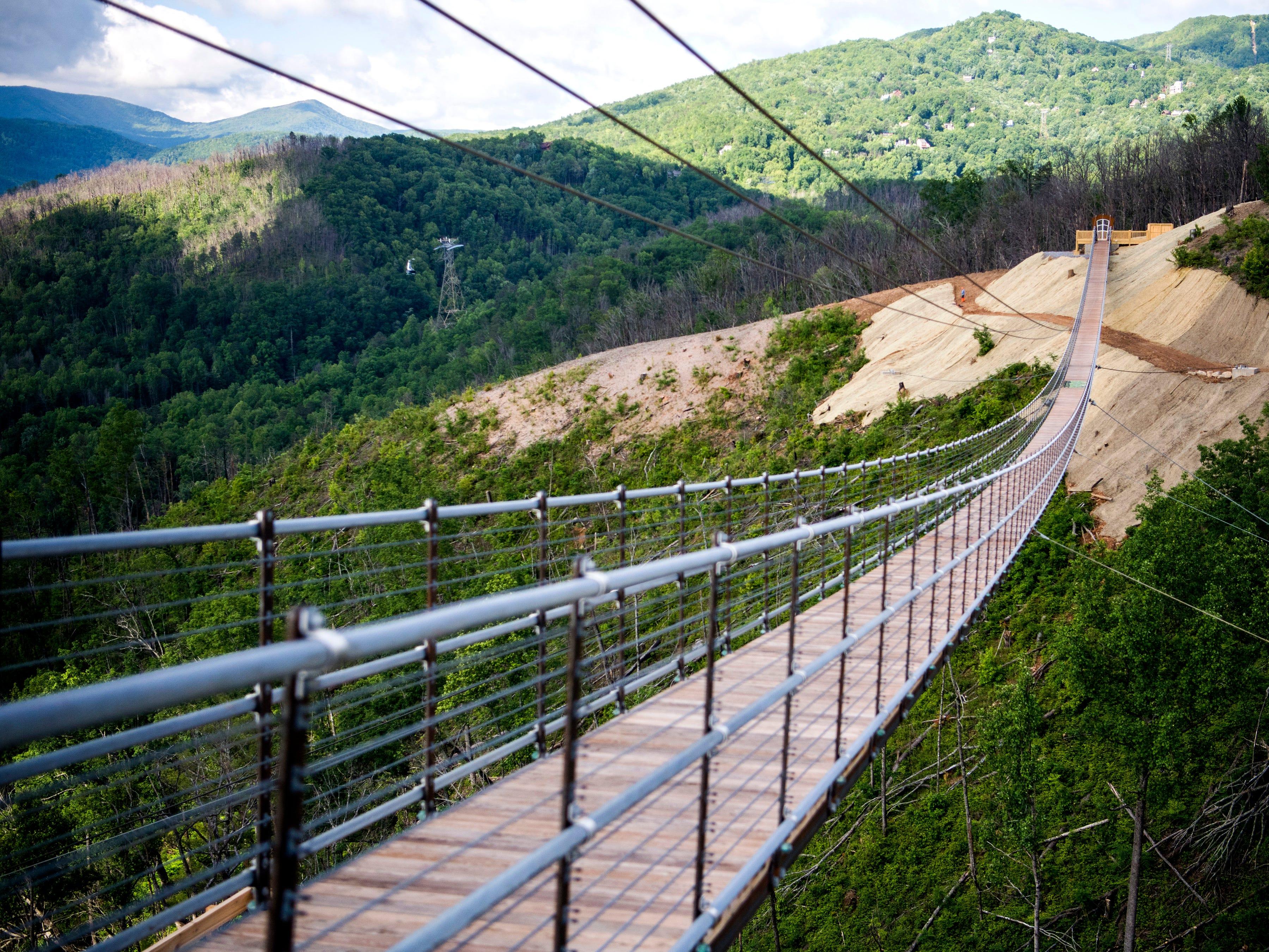 The Gatlinburg SkyBridge is North America's longest pedestrian suspension bridge and offers panoramic views of Gatlinburg and the Smoky Mountains.