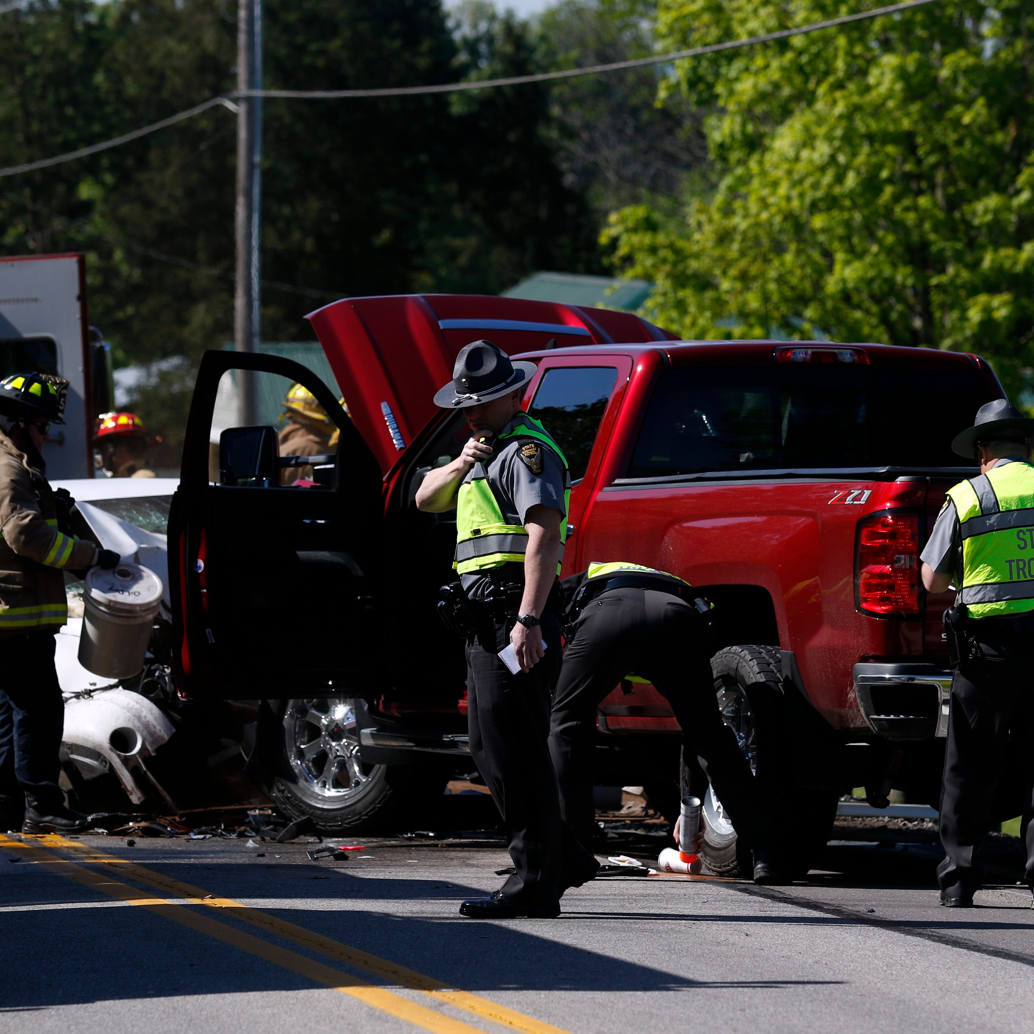Two injured in three-vehicle crash on Ohio 159