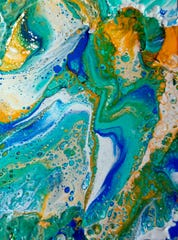 Fluid art at Manitowoc Public Library.