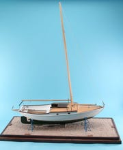 Model of Splash built by Kurt Van Dahm. On display at Wisconsin Maritime Museum.