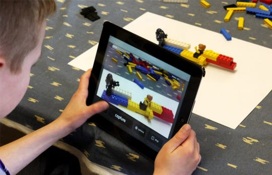 Lego stop motion at Manitowoc Public Library.