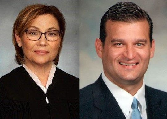 Judge Teresa Ballinger and Mayor Scott Schertzer
