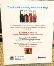 TSA sign at Memphis International Airport