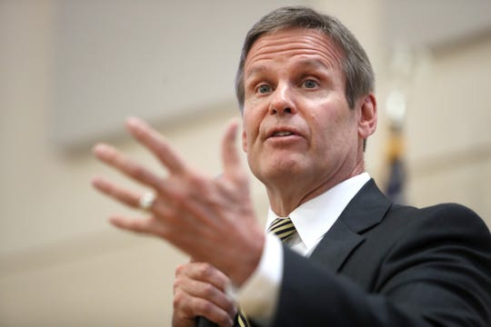 Gov. Bill Lee speaks in Memphis on May 14, 2019. Lee's administration is proposing major changes to how TennCare is funded. None of the three public hearings on this proposal are in Memphis, despite its large population of TennCare enrollees.
