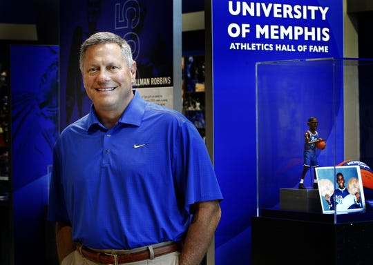 University of Memphis new Athletic Director Tom Bowen is pictured shortly after he was hired in 2012.