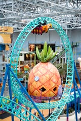 The Pineapple Popper is a Sponge Bob-themed bounce house for young children in Mall of America's Nickelodeon Universe.