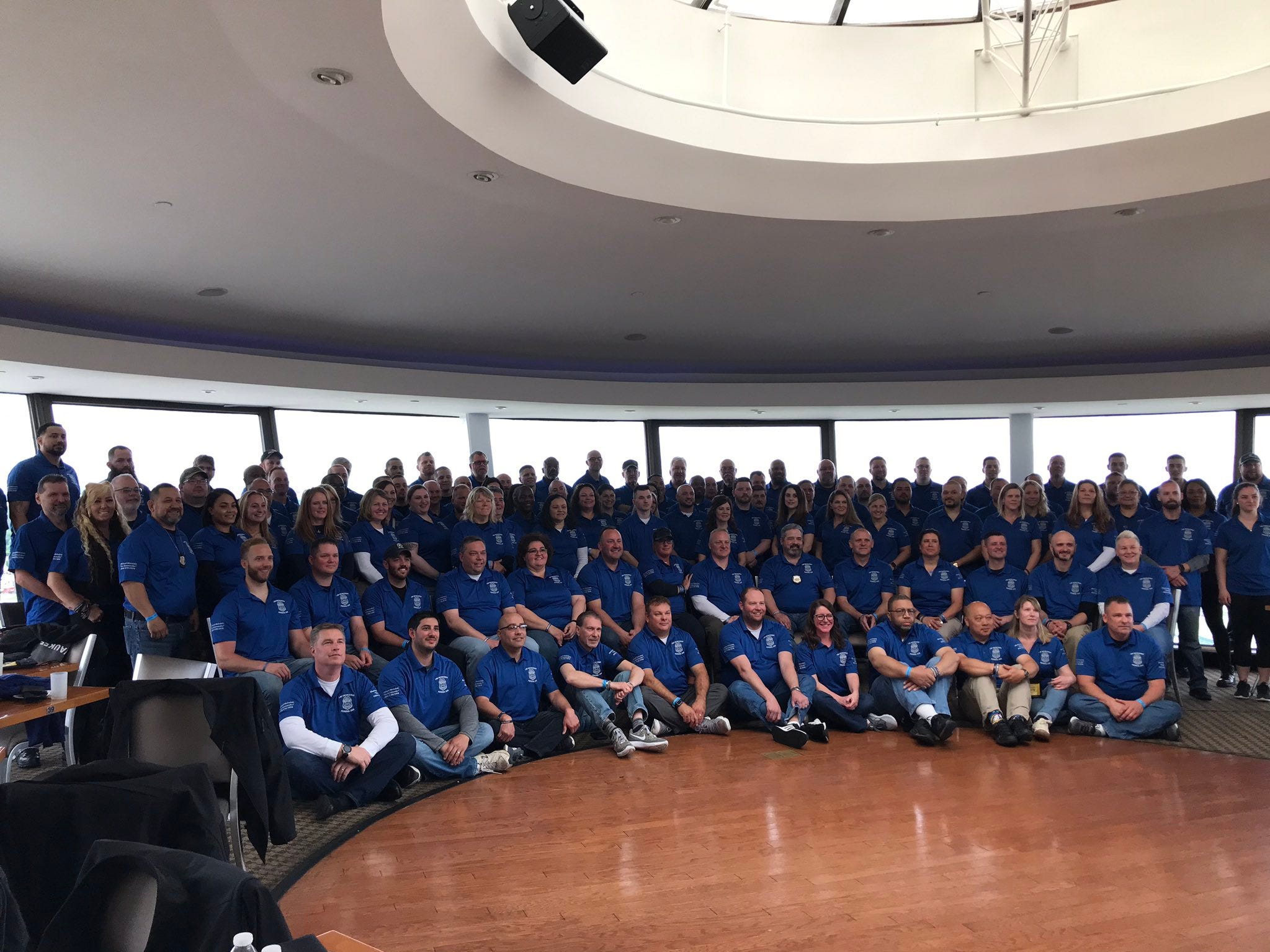 A contingent from the Milwaukee Police Department gathered Monday in Washington, D.C., for Police Week.