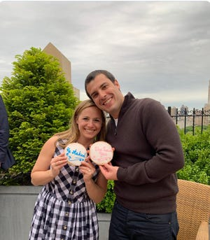 Alex Lasry (right) and Lauren Markowitz announced their engagement via Twitter.