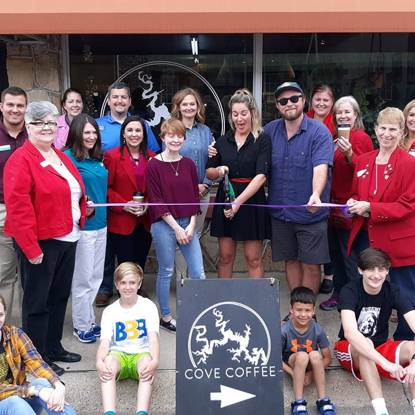 Chamber cuts ribbon for Cove Coffee