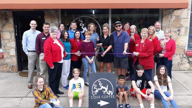 Chamber Ambassadors recentlycut the ribbon for Cove Coffee in Mountain Home. Cove Coffee serves gourmet coffee, tea and baked goods in a relaxed, cool atmosphere. Cove Coffee is is open from 7 a.m.-2 p.m. Tuesday-Friday and 8 a.m.-Noon onSaturday. The business is located at 714 S. Baker Street. Call (870) 321-5930 or visit them on Facebook.