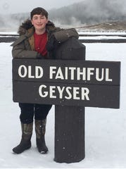 Billy Kenney from Columbia enjoying Yellowstone in the winter.