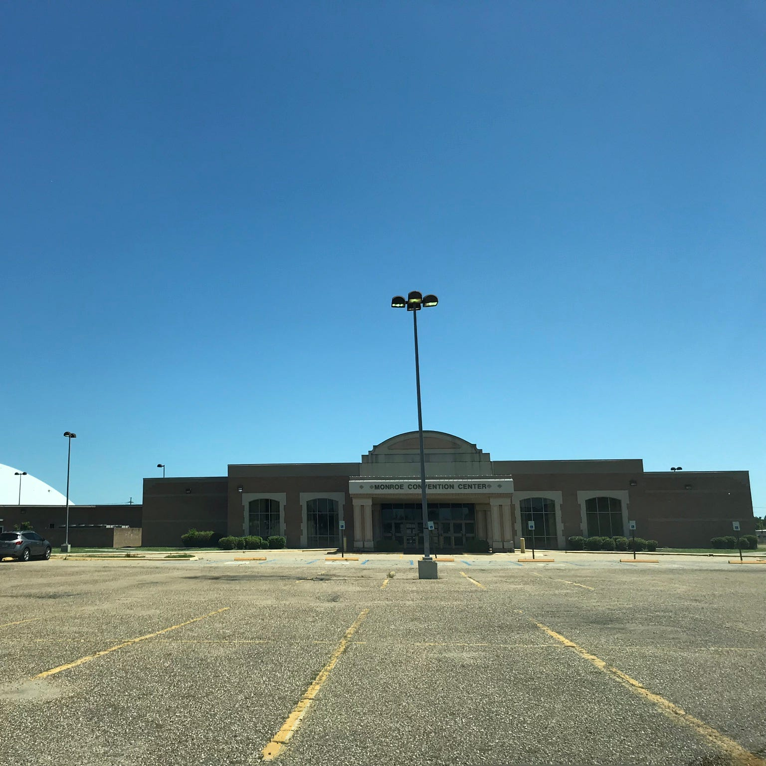 The parking area in front of the convention center at the Monroe Civic Center will be resurfaced this summer pending a Tuesday vote by the Monroe City Council.