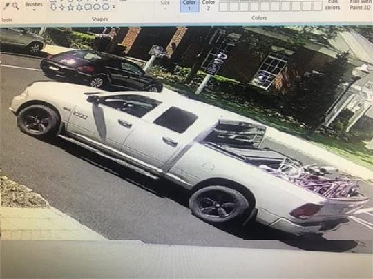 The Morris County Crime Stoppers program is seeking help identifying the man alleged to have fille this Dodge Ram pickup truck with bicycles he stole from a rack at a Morris plains apartment complex on May 11, 2019.