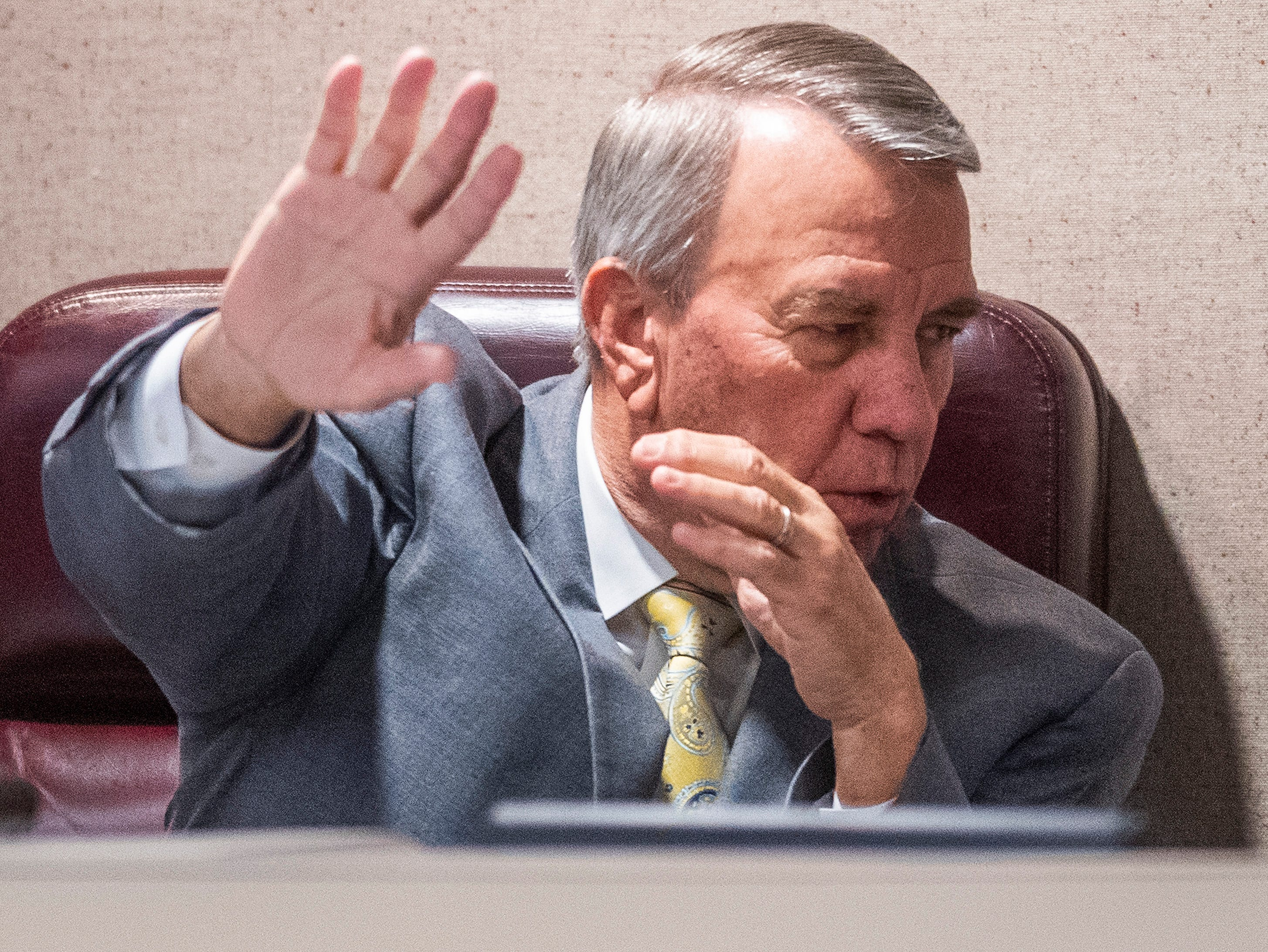 Speaker of the House Mac McCutcheon in the house chamber at the Alabama Statehouse in Montgomery, Ala., on Tuesday May 14, 2019.