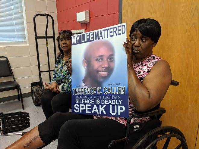Esther Lee said she hopes for answers after her son Terrence Callen, was found dead in Selma in April. Lee was present at the Selma YMCA May 14, 2019, as U.S. Attorney Richard Moore announced a $1 million emergency grant from the Department of Justice to help Selma combat violent crimes and gang activity.
