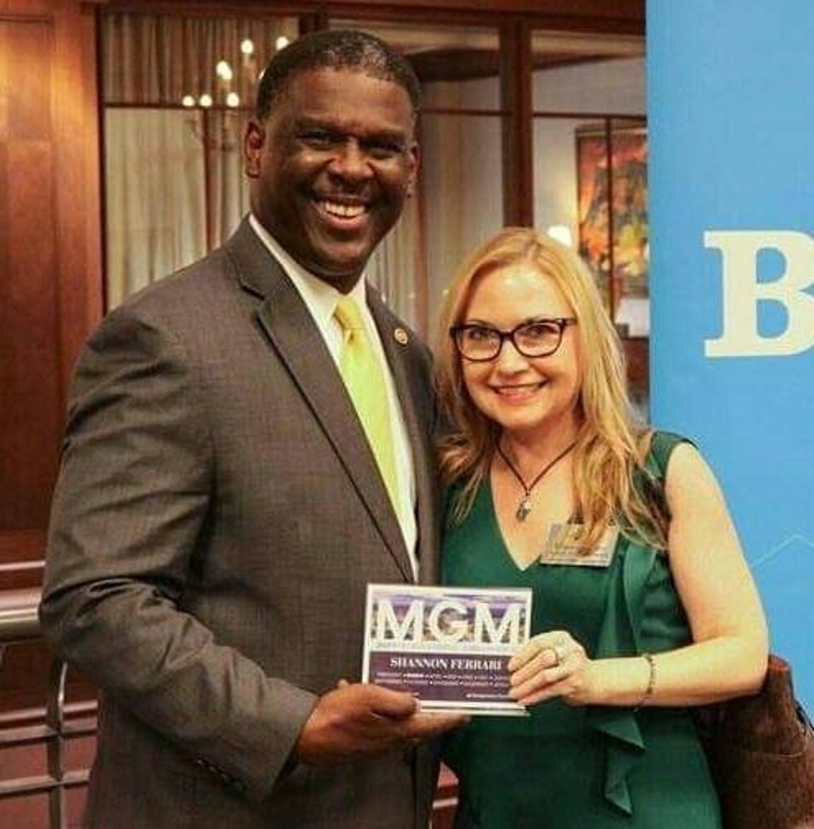 Shannon Ferrari, an ambassadors with the Montgomery Chamber of Commerce, announced her intention to run for mayor on Tuesday, May 14, 2019.