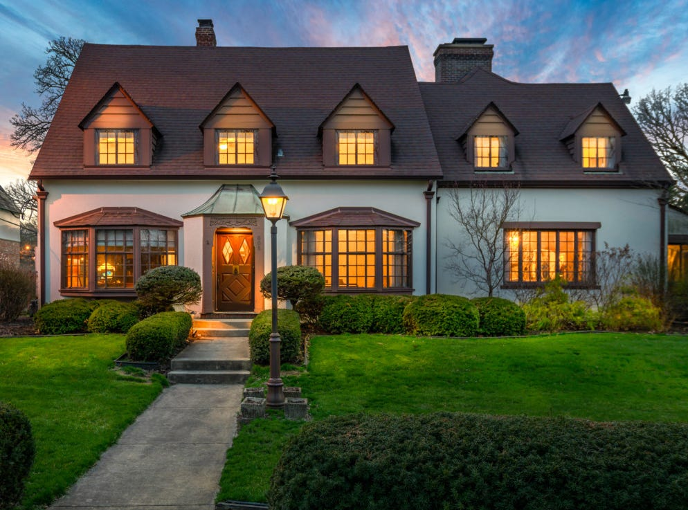 This Westwood Tudor Revival home at 805 N. Briar Road includes 6 bedrooms, 5.5 bathrooms and was built in 1925.