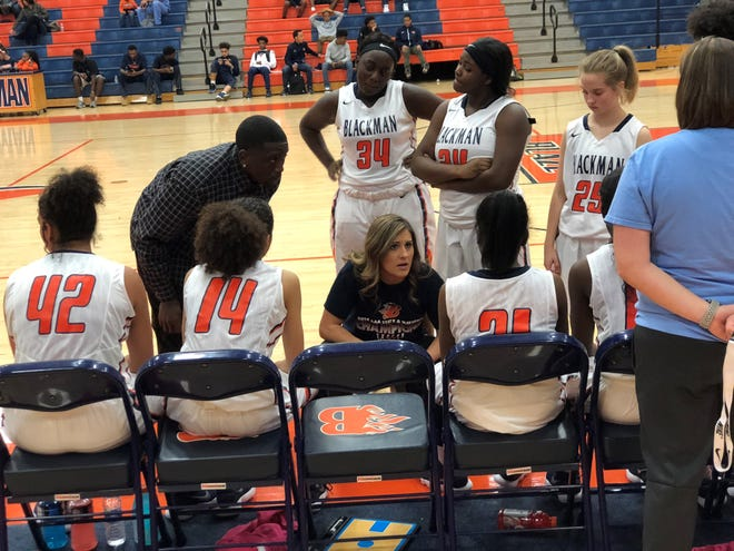 Former Blackman assistant Shelby Campbell, shown during a 2018-19 game, has been named head girls basketball coach at Oakland.