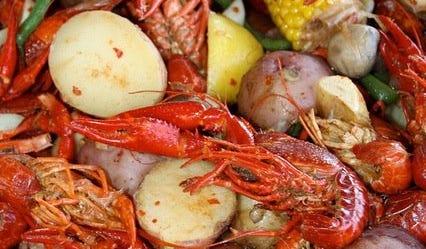 Seafood Sensation: A good, ol' fashioned crawfish boil.