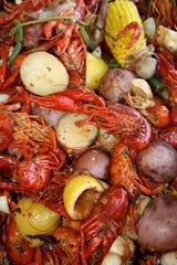 The Seafood Sensation menu features good ol' fashioned crawfish boil.