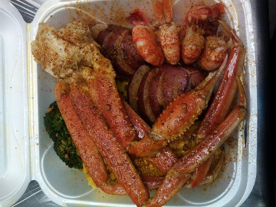 Seafood Sensation: Bounty from the sea includes shrimp and crab legs.