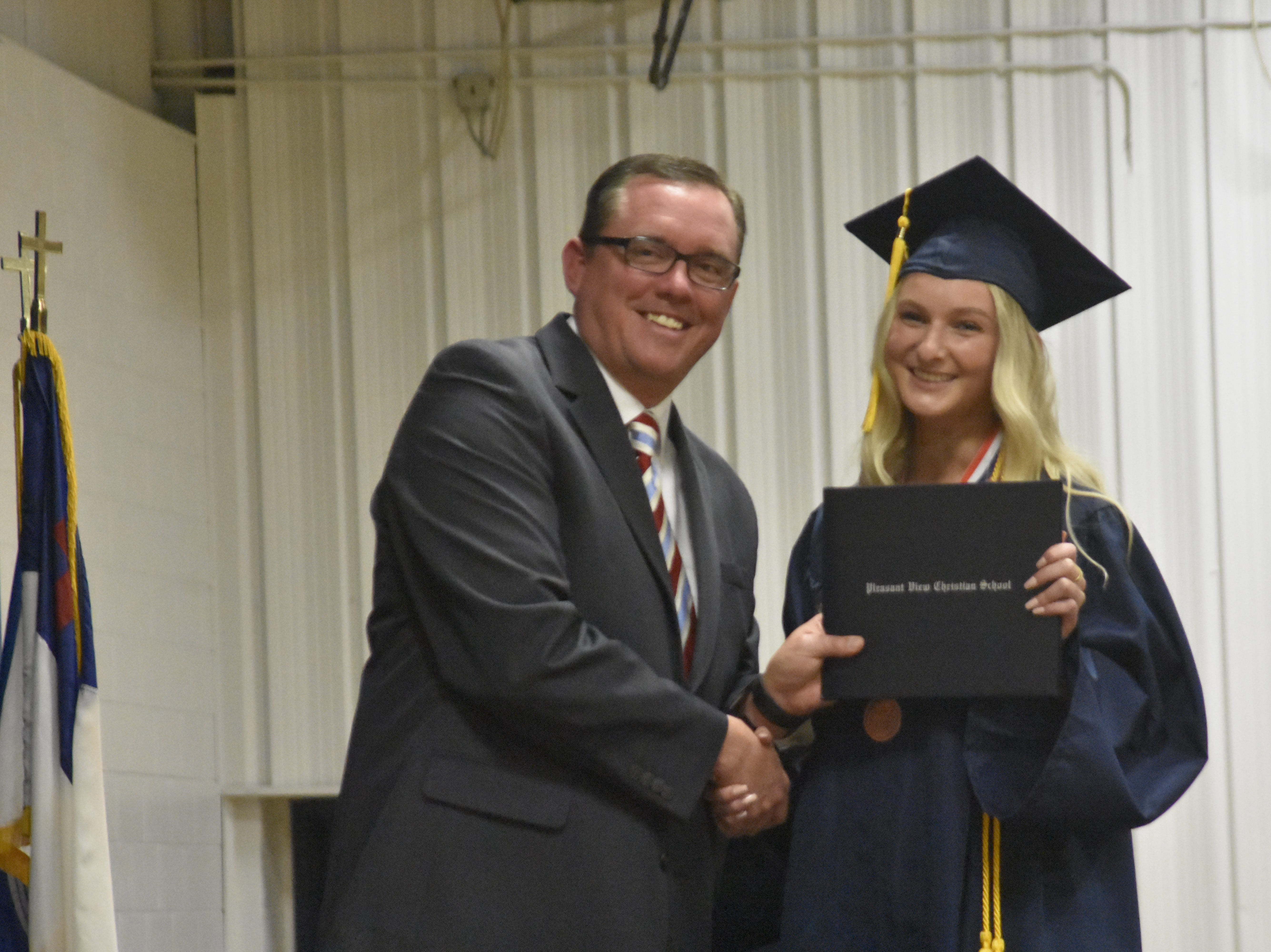 Pleasant View Christian School's class of 2019 graduated on Monday, May 13.