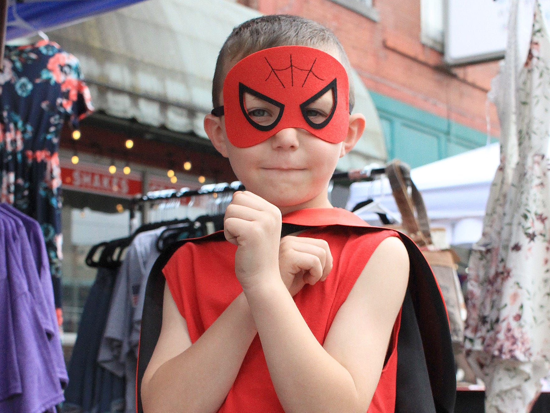 Even Spiderman (McKennon Hodges) showed up at the Fashion Crawl in Gallatin, TN on Saturday, May 11, 2019