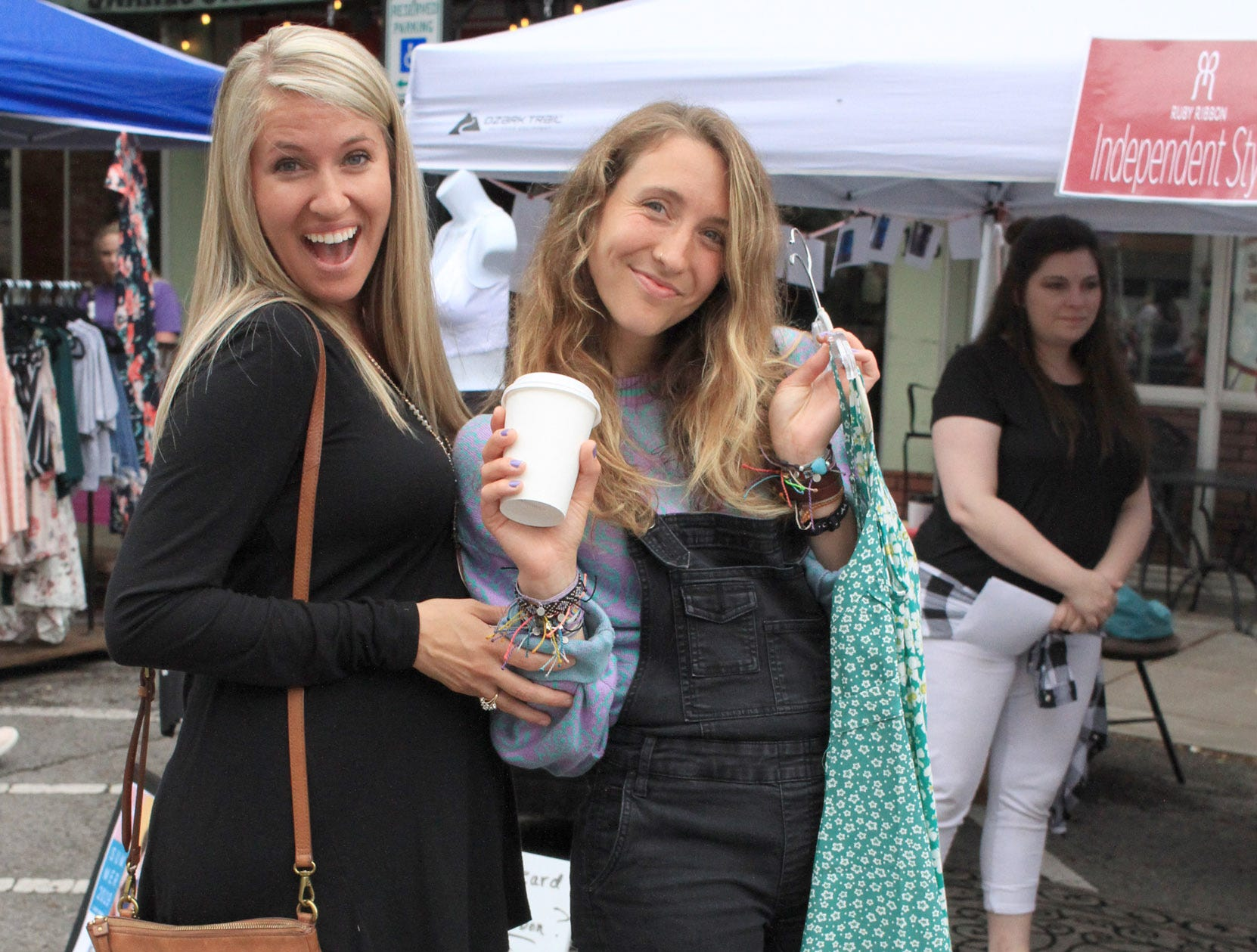 Jamie Turbeville and Katie Hurst are all about the Fashion Crawl in Gallatin, TN on Saturday, May 11, 2019.