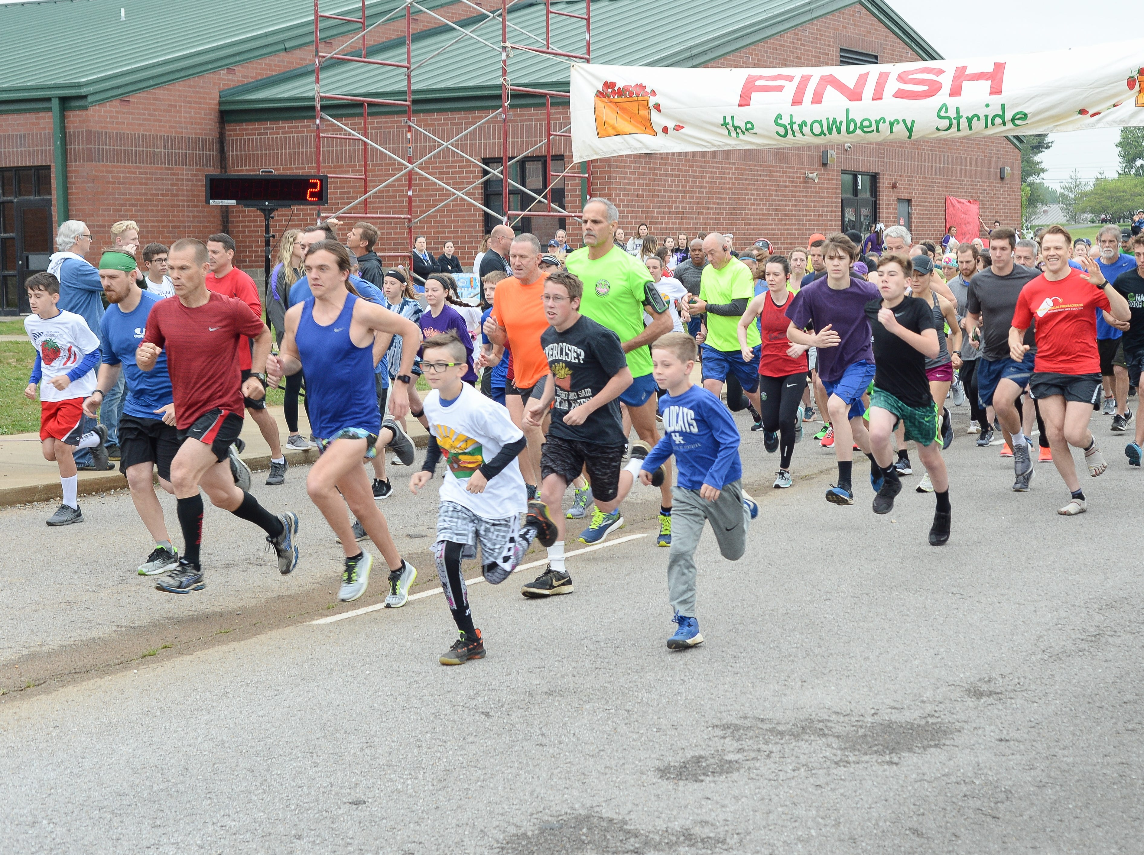 The Strawberry Stride kicks off at Portland High School during the 78th Annual Middle Tennessee Strawberry Festival presented by the Portland Chamber of Commerce in Portland on Saturday, May 11.