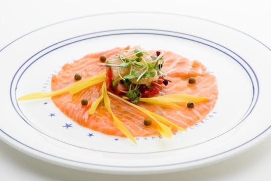Smoked salmon is on the early diing menu this season at Bleu Provence in Naples.