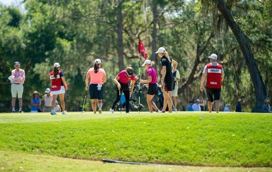 Players participate the first round of 5th U.S. Women's Amateur Four-Ball Championship at Timuquana Country Clug in Jacksonville on April 27. The 2020 event will be at Quail Creek Country Club in Naples.