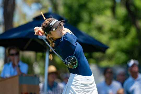Brittany Shin tees off from 10th hole during the first round of 5th U.S. Women's Amateur Four-Ball Championship at Timuquana Country Clug in Jacksonville on April 27. Shin is from Cape Coral and committed to Florida State. The 2020 event will be at Quail Creek Country Club in Naples.