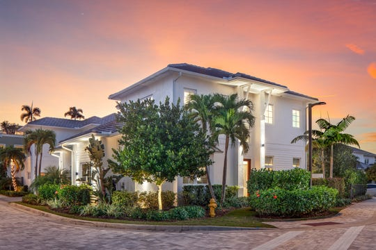 This luxury home located at 9188 Mercato Lane is situated on the largest lot in Residences at Mercato.