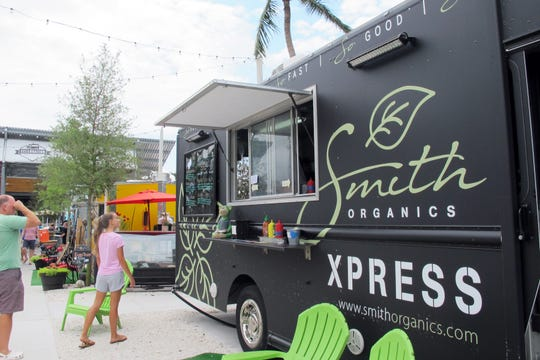 Smith Organics food truck rolled out of Celebration Park on Monday morning. Cousins Maine Lobster food truck will soon replace it at the venue off Bayshore Drive in East Naples.
