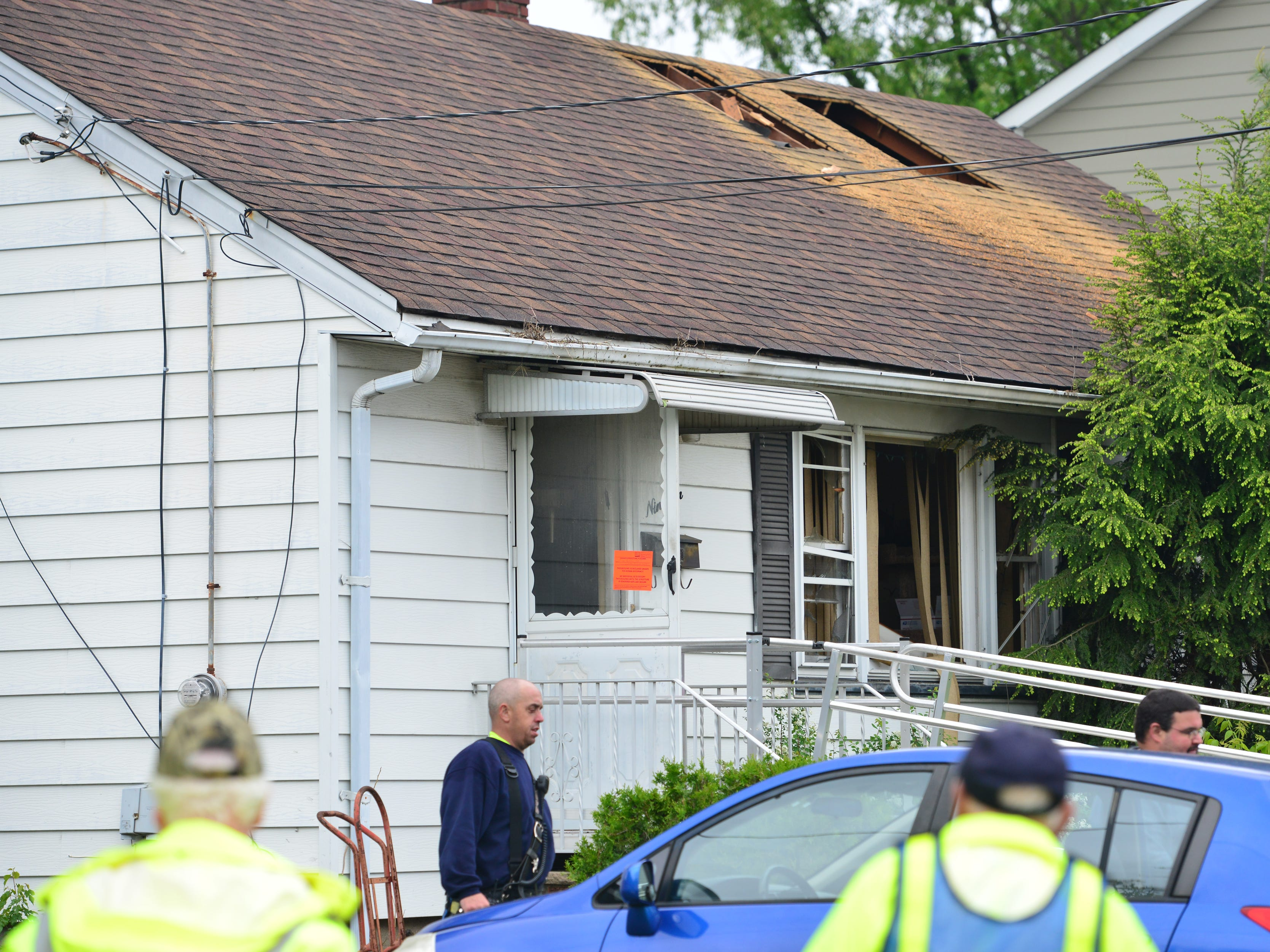 Fire broke out at a home on Hutter St in Saddle Brook, N.J. No injuries were reported.