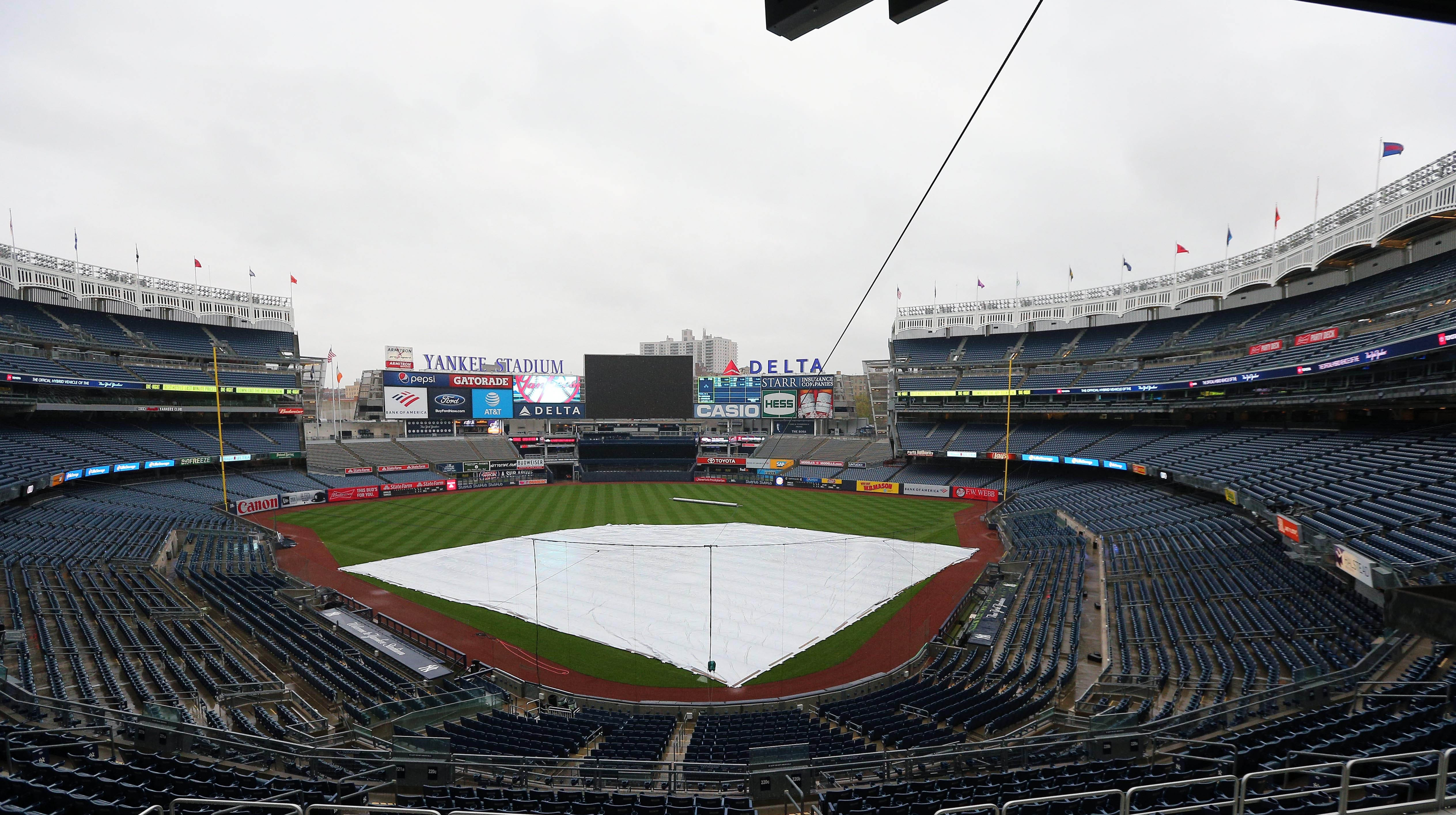 Yankees vs. Royals postponed due to weather on Friday