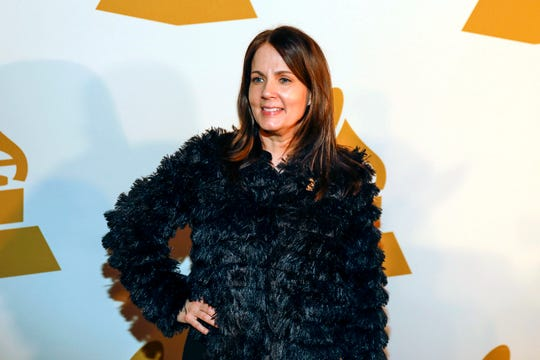 FILE - In this Jan. 26, 2017 file photo, is singer-songwriter Lori McKenna. This year's nominees at Americana Music Association's Honors and Awards are all female: Brandi Carlile, Rhiannon Giddens, Kacey Musgraves and Mavis Staples. In the nominations announced Tuesday, May 14, 2019, McKenna is nominated four times, including for album of the year and three times in the song of the year category as both an artist and a songwriter.