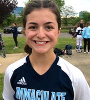 Immaculate Conception junior catcher Angela Lignelli has aspirations of playing in college.