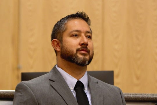 Doña Ana County Commissioner Manuel Sanchez at the commissioners' meeting on Tuesday, May 14, 2019.