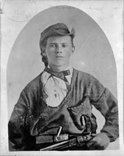 A portrait of Jesse James during his time as a Southern guerrilla, circa 1864.