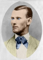 Jesse James, circa 1882, when he was the most famous outlaw In America.